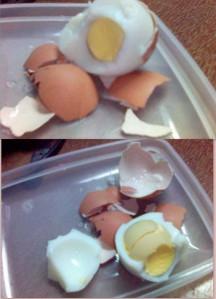 masak smpai sedalam2nya, egg yolk!